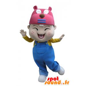 Boy Maskottchen Kopf mit einem Biber - MASFR031131 - Biber Maskottchen