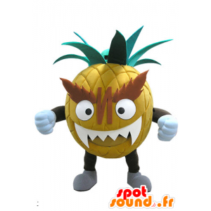 Giant and intimidating pineapple mascot - MASFR031137 - Fruit mascot