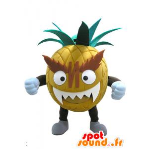 Reus en intimiderend ananas mascotte - MASFR031137 - fruit Mascot