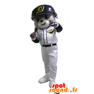 Mascot gray and white bears, baseball outfit - MASFR031143 - Bear mascot