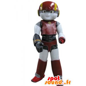 Mascot rød robot, gul og svart - MASFR031156 - Ikke-klassifiserte Mascots