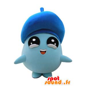Mascot sinisen ihmisen ympärillä, suuret mustat silmät - MASFR031172 - Mascottes Homme