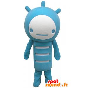 Blau und weiß Schneemann Maskottchen - MASFR031181 - Menschliche Maskottchen