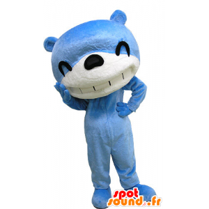 Mascot blauwe en witte beren, lucht lachen - MASFR031186 - Bear Mascot