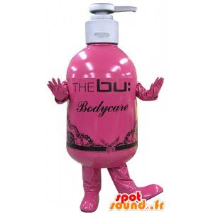 Soap bottle mascot. lotion mascot - MASFR031207 - Mascots of objects