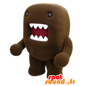 Mascot Domo Kun, brown monster with a big mouth - MASFR031215 - Mascots sea monster