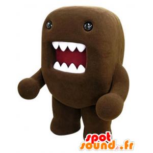 Mascot Domo Kun, bruine monster met een grote mond