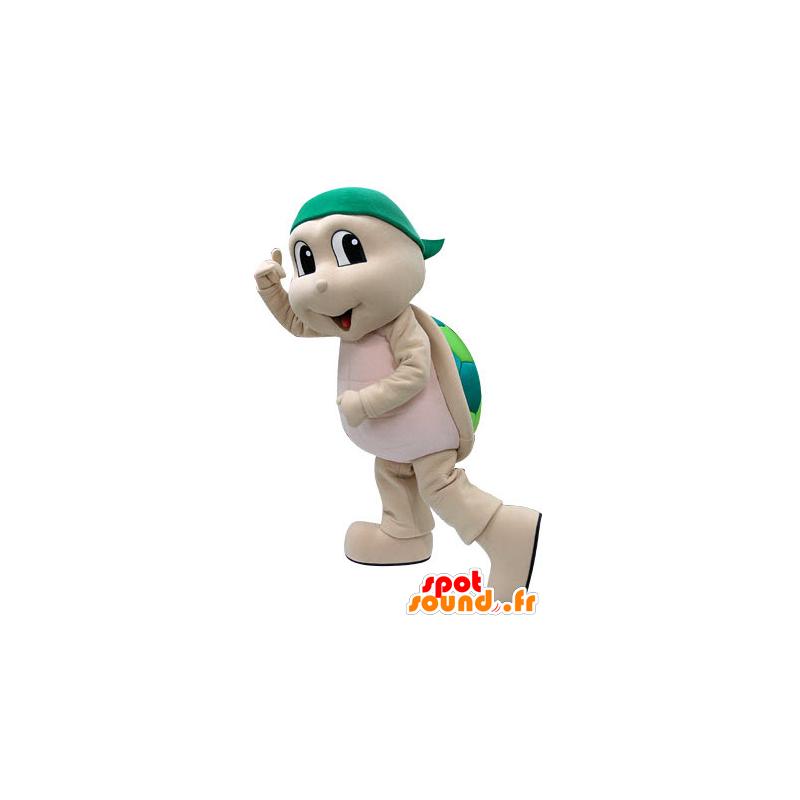 Mascot beige and green turtle. Turtle Costume - MASFR031222 - Mascots turtle