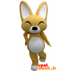 Mascota zorro amarillo y blanco. la mascota del perrito - MASFR031223 - Mascotas Fox
