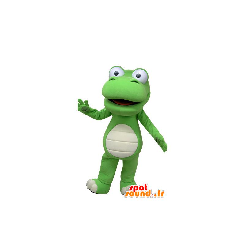 Green and white crocodile mascot, giant - MASFR031224 - Mascots Crocodile
