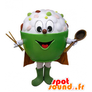 Mascot bowl filled with Asian food - MASFR031236 - Mascots of objects