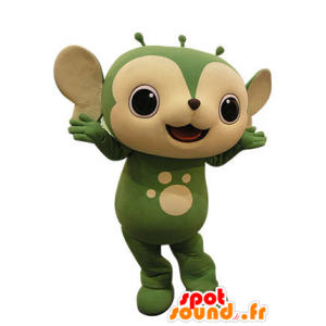 Mascot grün und beige Tier. Eichhörnchen-Maskottchen - MASFR031247 - Maskottchen Eichhörnchen