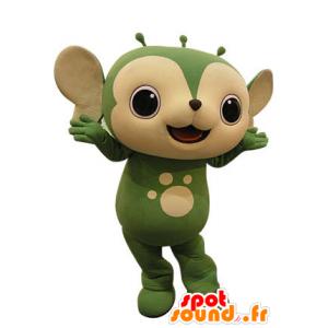 Mascot groen en beige dier. Eekhoorn mascotte - MASFR031247 - mascottes Squirrel