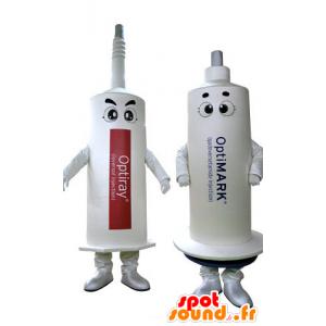 2 mascots weiße Nadeln. 2 Spritzen - MASFR031267 - Maskottchen von Objekten