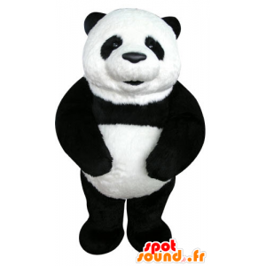 Mascotte de panda noir et blanc, très beau et réaliste - MASFR031276 - Mascotte de pandas