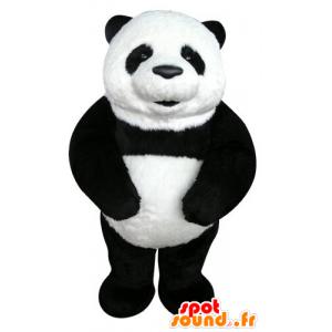 Mascot svart og hvit panda, vakker og realistisk - MASFR031276 - Mascot pandaer