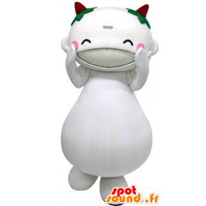 Mascotte de gros bonhomme blanc à l'air rieur - MASFR031284 - Mascottes Homme