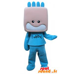 Mascot kind, gekleed in blauwe jongen - MASFR031289 - mascottes Child