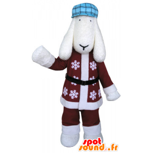 Equipamento do inverno White Dog Mascot - MASFR031298 - Mascotes cão