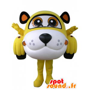 Mascotte de voiture en forme de tigre jaune, blanc et noir - MASFR031306 - Mascottes Tigre