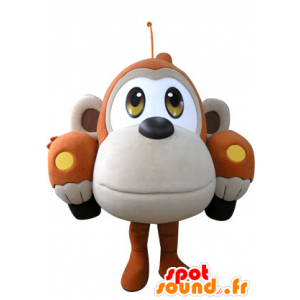 Shaped car mascot orange and beige monkey - MASFR031307 - Mascots monkey