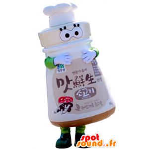 Mascot Salzstreuer Rohr mit einer Kappe. kulinarische Maskottchen - MASFR031309 - Maskottchen von Objekten