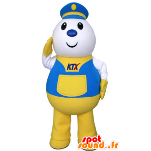 Factor mascot, delivery boy, dressed in uniform steed - MASFR031313 - Human mascots