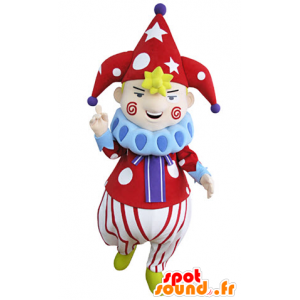 Clown maskotka przedstawia postać cyrkowych