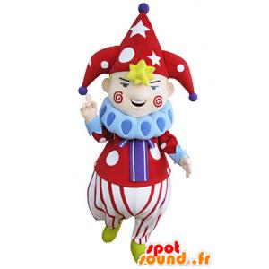 Klaun maskot charakter cirkusové přehlídky