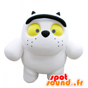 Wholesale mascot white cat with yellow eyes - MASFR031317 - Cat mascots