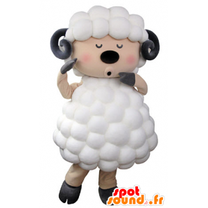 Mascot sheep, goat, white, black and pink - MASFR031325 - Mascots sheep