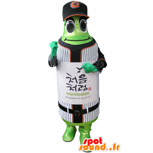 Botella de la mascota verde en ropa deportiva - MASFR031339 - Mascota de deportes
