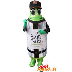Mascotte de bouteille verte en tenue de sport - MASFR031339 - Mascotte sportives