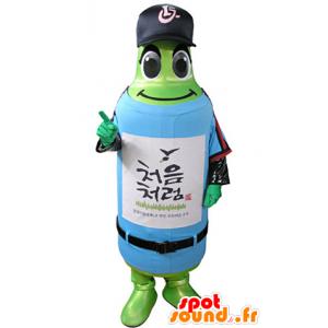 Mascotte de bouteille verte en tenue de sport - MASFR031340 - Mascotte sportives