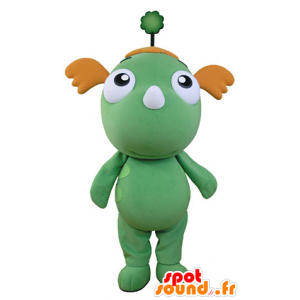 Green dragon mascot and orange. green mascot - MASFR031356 - Dragon mascot