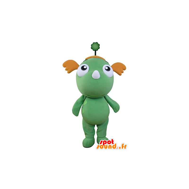 Green Dragon maskot og oransje. grønn maskot - MASFR031356 - dragon maskot