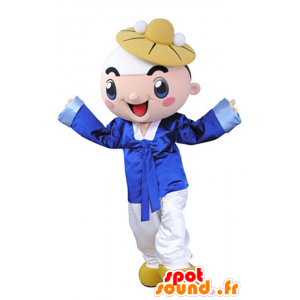 Boy smiling mascot dressed in traditional dress - MASFR031358 - Mascots boys and girls