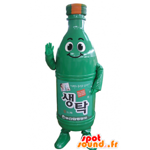 Drink mascot. green bottle mascot - MASFR031360 - Food mascot