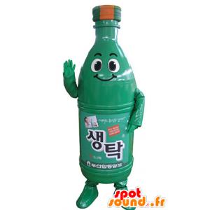 Juoma maskotti. vihreä pullo maskotti - MASFR031360 - ruoka maskotti