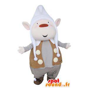 Leprechaun maskot med spisse ører og en lue - MASFR031361 - jule~~POS TRUNC