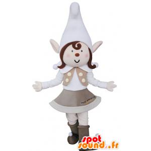 Mascotte de lutine, avec les oreilles pointues et un bonnet - MASFR031362 - Mascottes non-classées
