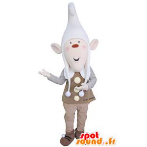 Mascotte de lutin avec les oreilles pointues et un bonnet - MASFR031363 - Mascottes Noël