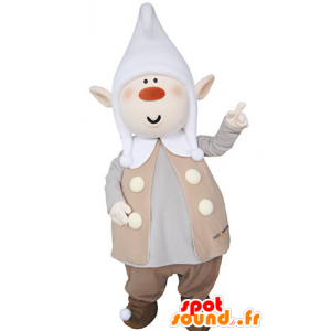Krasnoludek maskotka pulchny, ze spiczastymi uszami i kapelusz - MASFR031364 - Boże Maskotki
