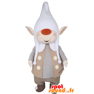 Leprechaun mascot with pointed ears and a large cap - MASFR031365 - Christmas mascots