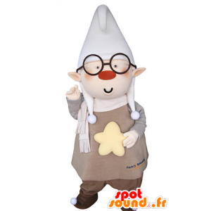 Leprechaun mascot with pointed ears and a large cap - MASFR031366 - Christmas mascots