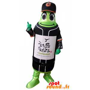 Green bottle mascot in sportswear - MASFR031370 - Sports mascot