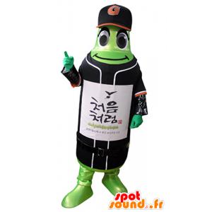 Mascotte de bouteille verte en tenue de sport - MASFR031370 - Mascotte sportives