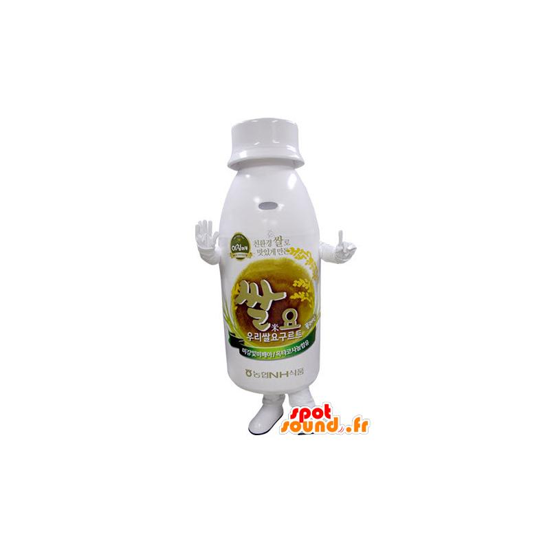 White plastic bottle mascot - MASFR031390 - Mascots bottles