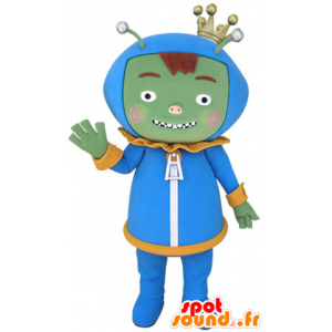 Green monster mascot, alien, alien - MASFR031401 - Monsters mascots