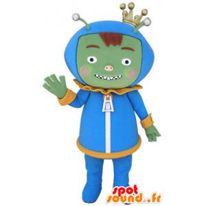 Grüne Monster Maskottchen, Ausländer, Ausländer - MASFR031401 - Monster-Maskottchen